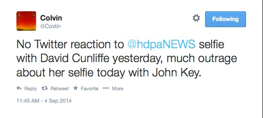 Banners_and_Alerts_and_Colvin_on_Twitter__No_Twitter_reaction_to__hdpaNEWS_selfie_with_David_Cunliffe_yesterday__much_outrage_about_her_selfie_today_with_John_Key_