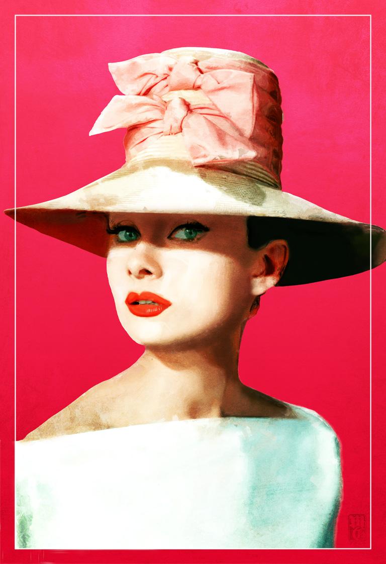 Illustration of the iconic Audrey Hepburn