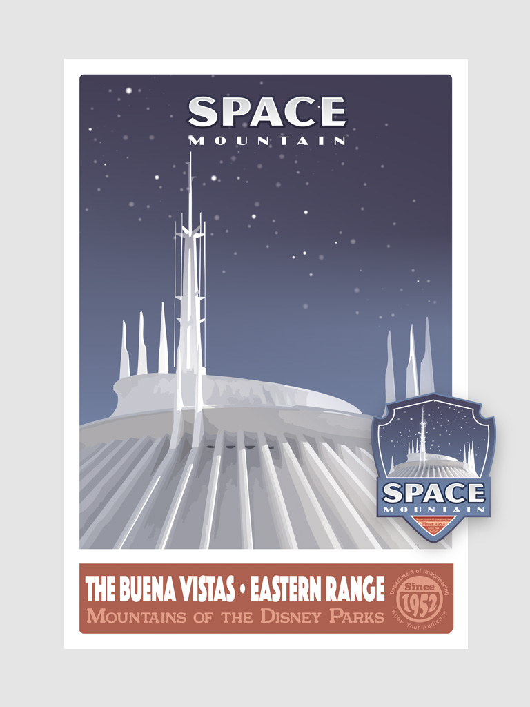 Space Mountain illustrated poster