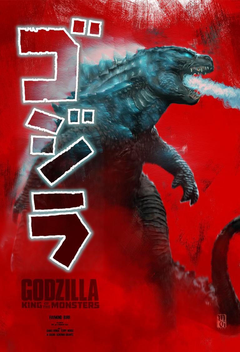 Gojira/Godzilla conceptual movie poster