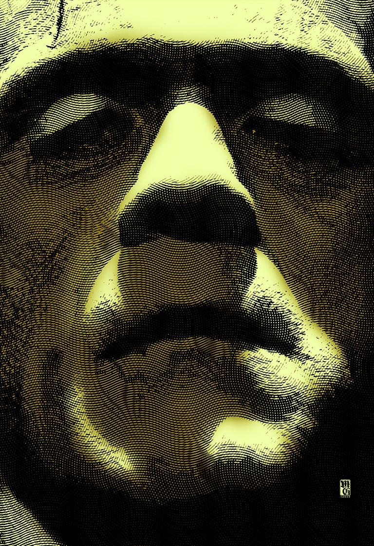 Portrait of Frankenstein's monster