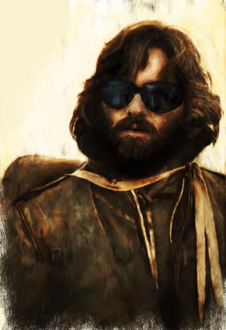Portrait of Kurt Russell as R.J.MacReady