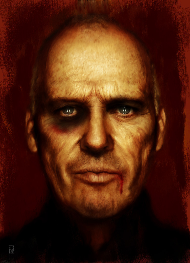 Portrait of Michael Keaton as Old Bat Man, Bruce Wayne