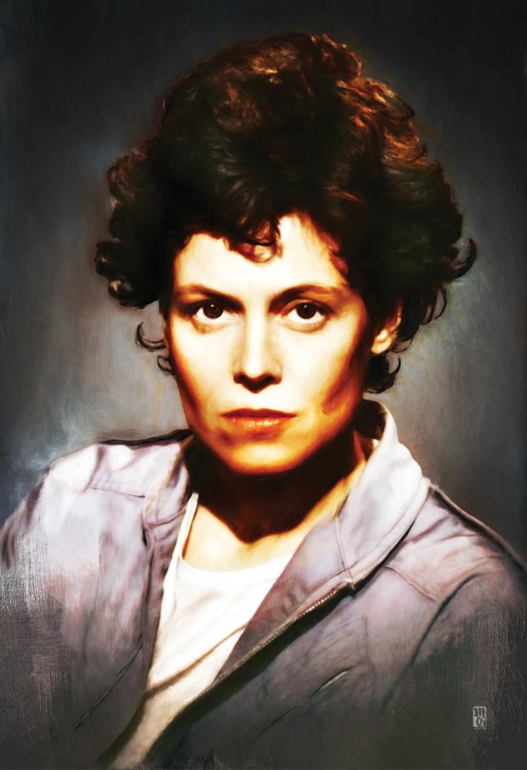 Portrait of Ellen Ripley, from Aliens