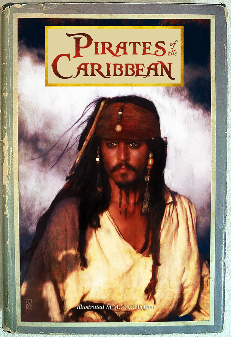 """""""Scribners"""" style book mockup of Pirates of the Caribbean"""