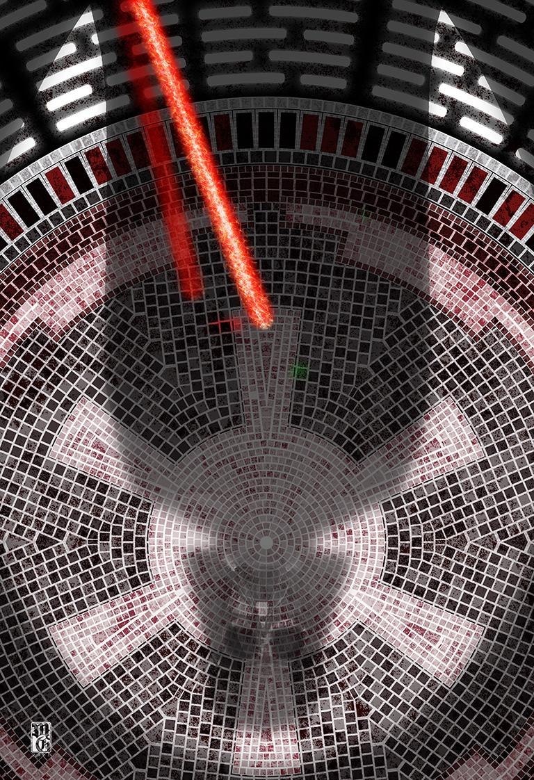 Original layout of Darth Vader, Empire tiles
