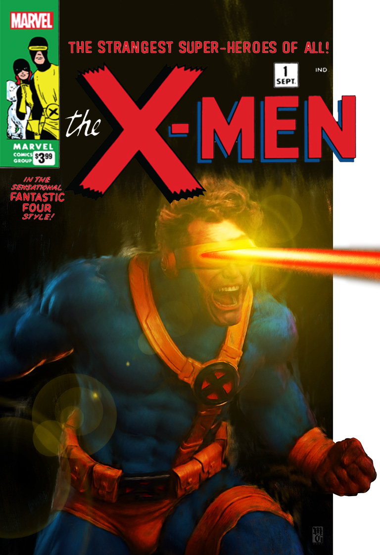 Alt comic book cover for X-Men featuring Cyclops