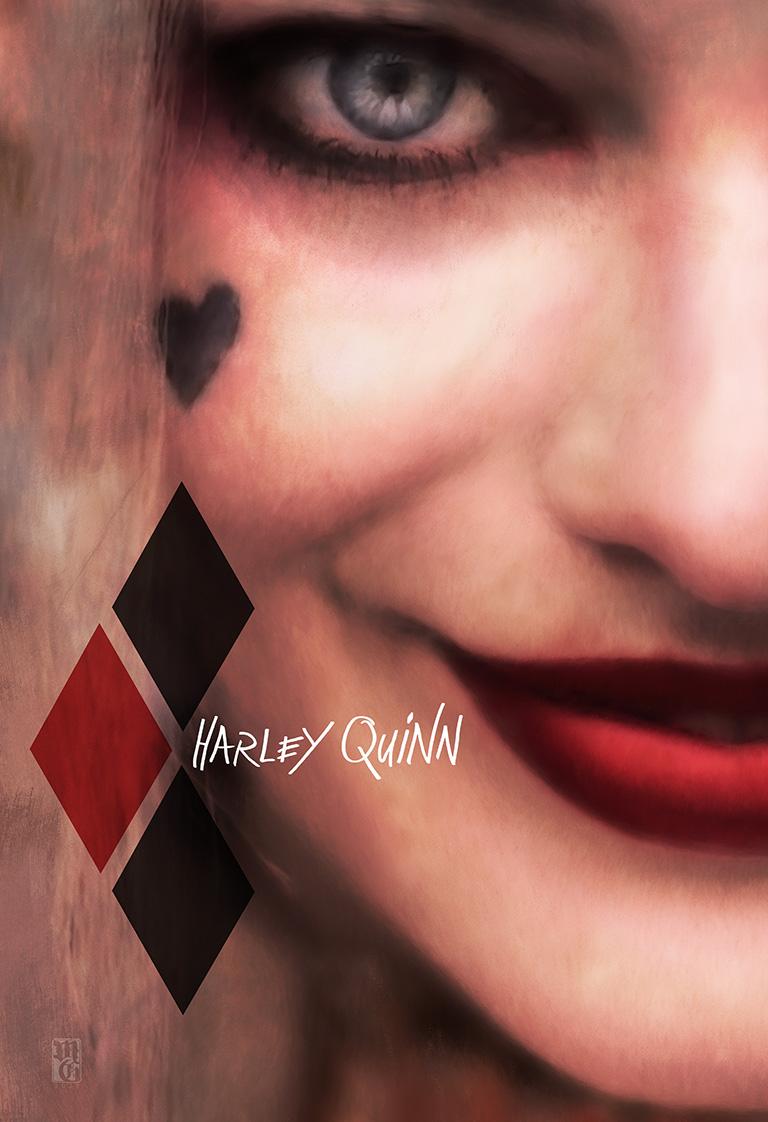 Alternative movie poster for Harley Quinn