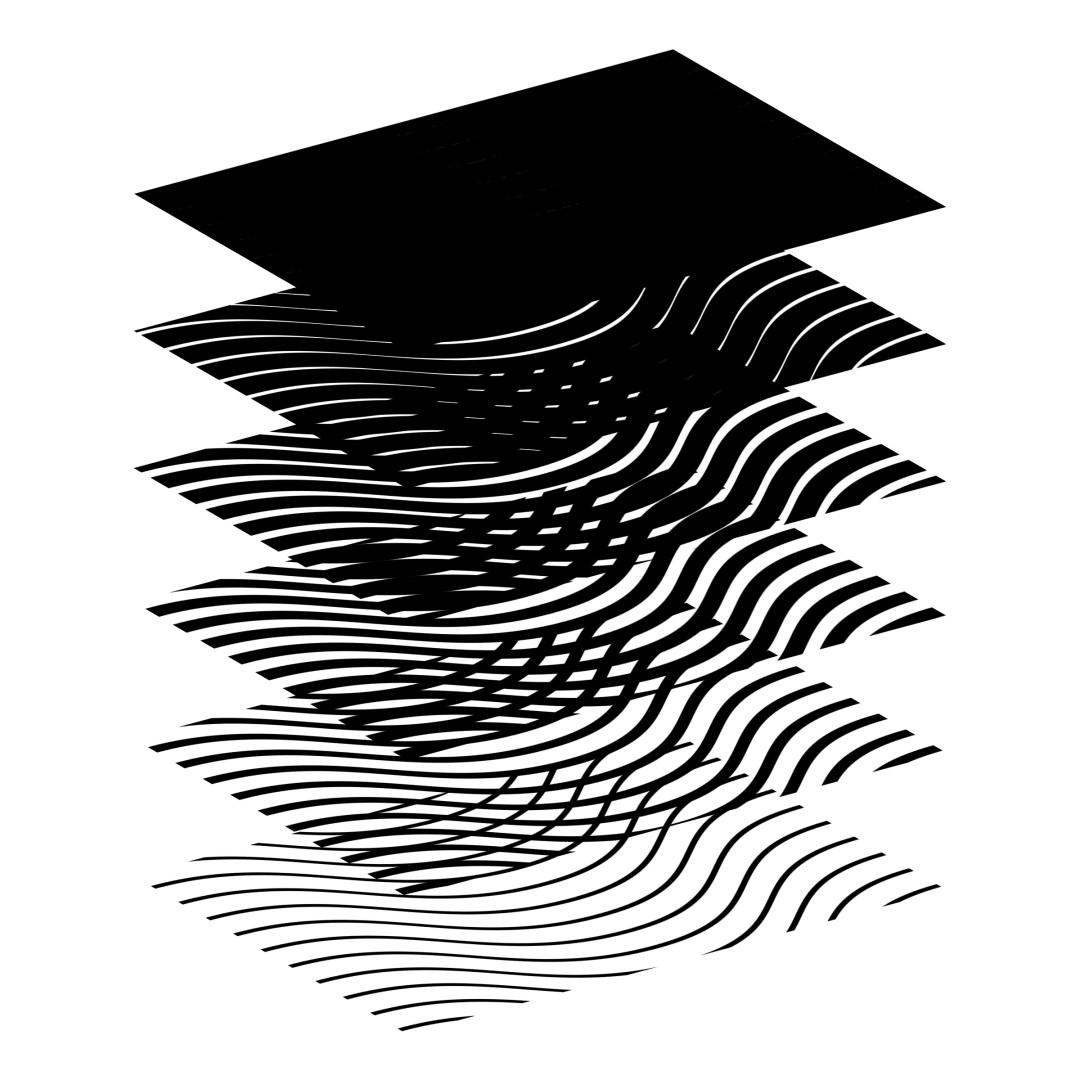 Visual representation of the layering of patterns