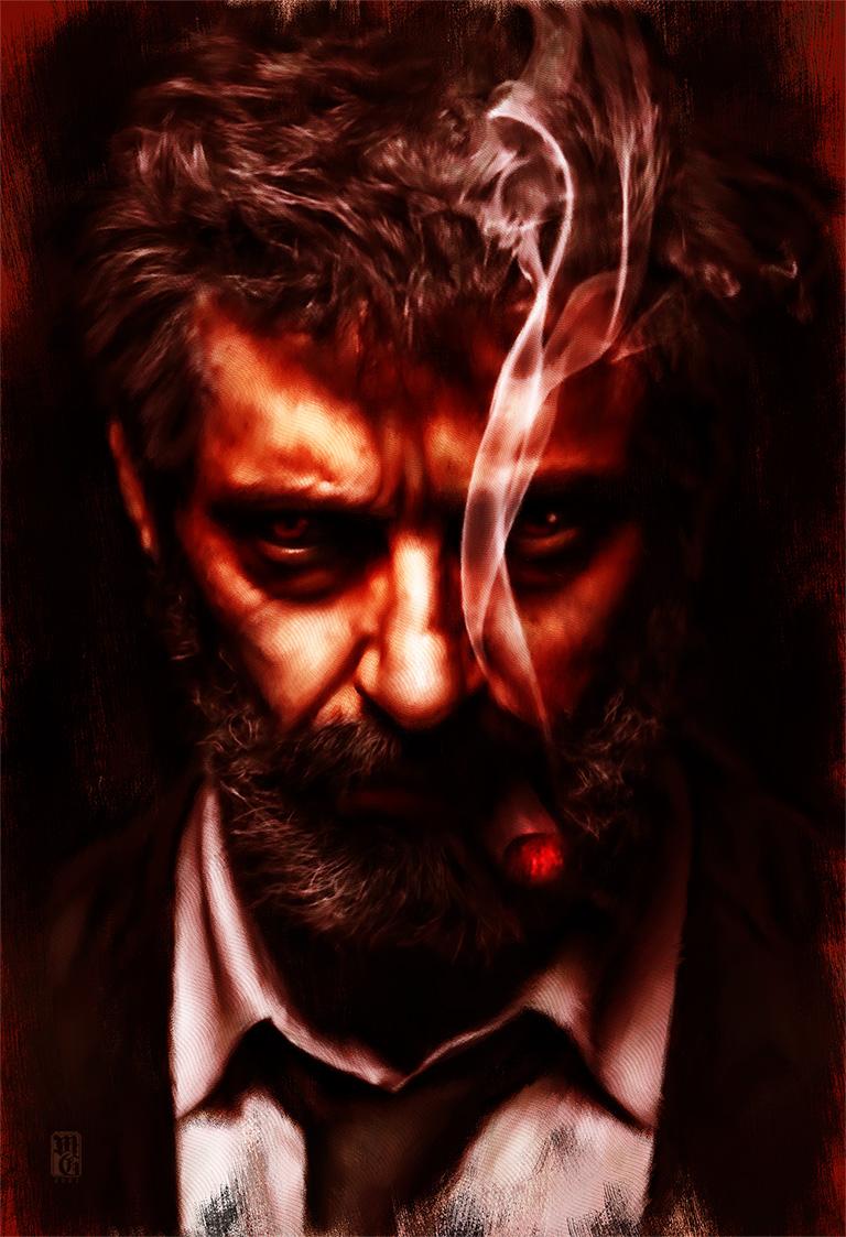 Portrait of Hugh Jackman as Old Man Logan