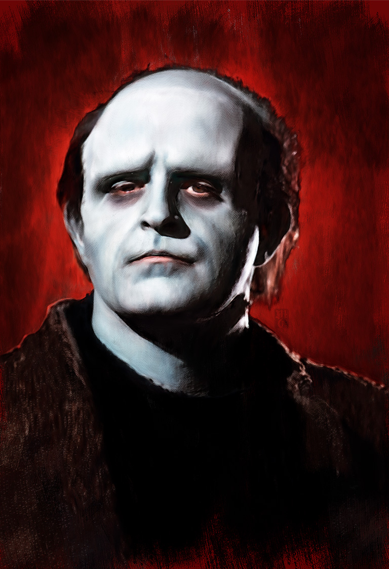 Portrait of the monster from Young Frankenstein.