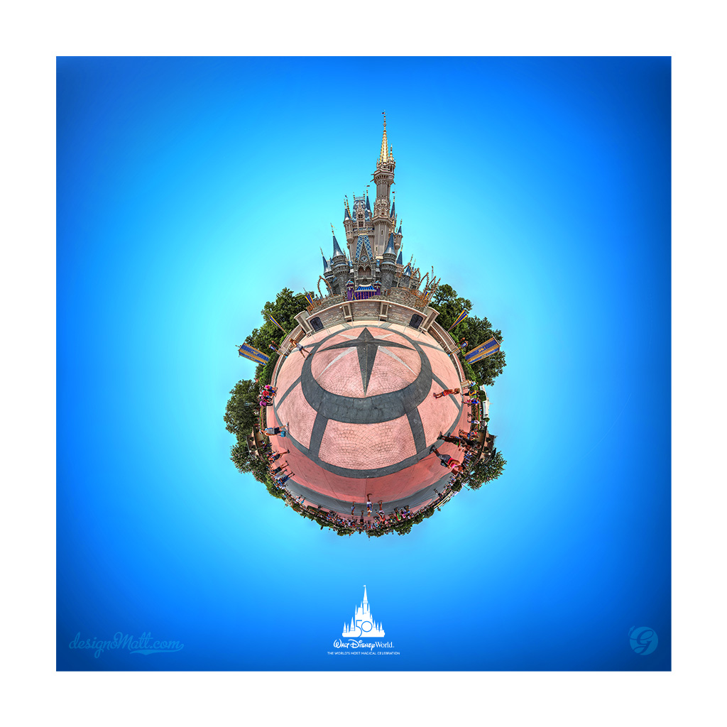 Cinderella Caste tiny planet