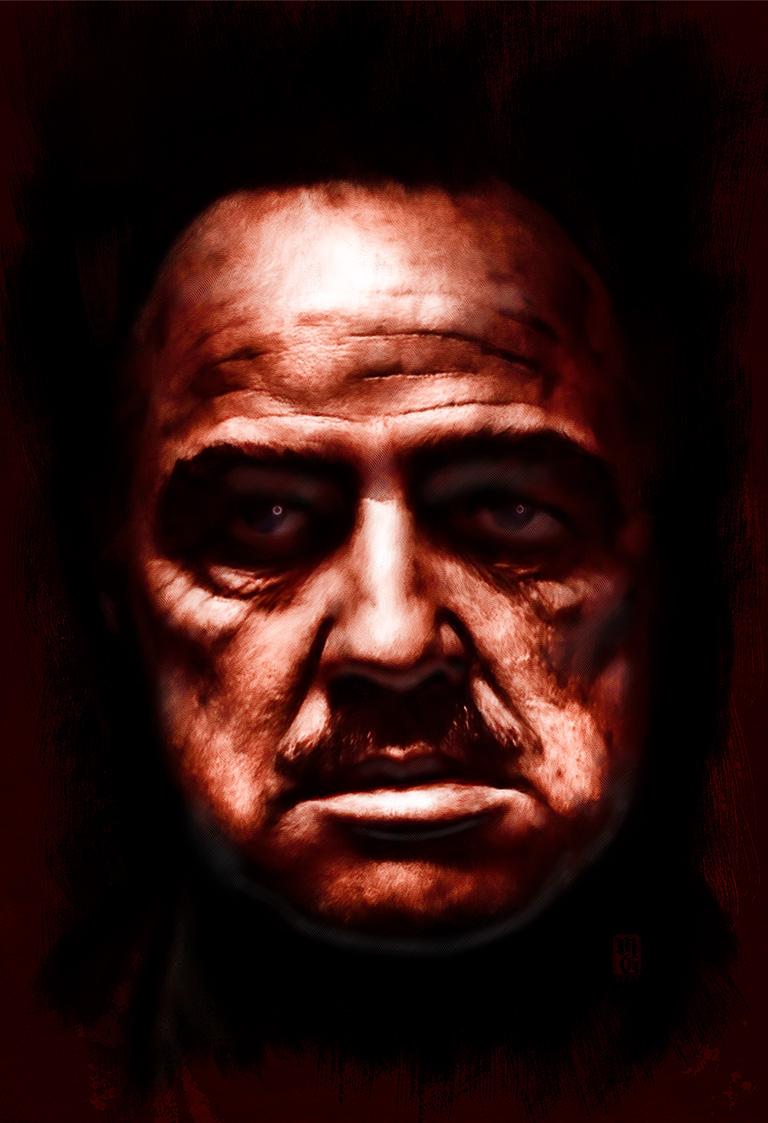 Portrait of Marlon Brando as Don Corleone