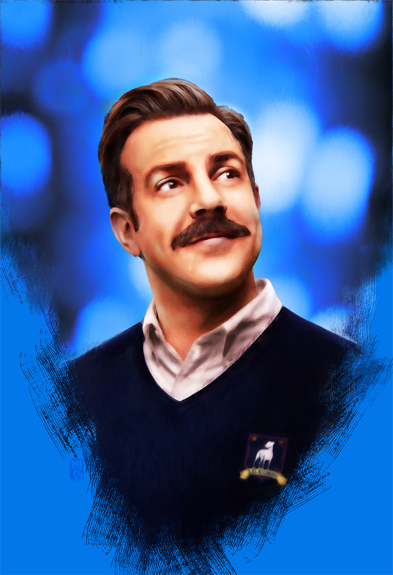 Portrait of Jason Sudeikis as Ted Lasso