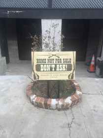 Seen by one of the posters on r/brooklyn, the sign is a response to developers walking house to house trying to buy up property.