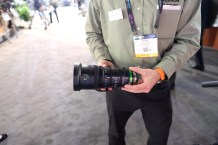 Fujinon's new 20-120mm in-hand. Quite compact for this range, great balance.