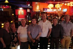 The Duclos Lenses and TLS Optics crew after calling it a night after a long day and a great dinner.