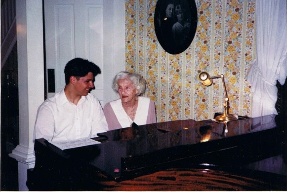 With my great-grandmother, Adele Clemens (played piano in San Antonio silent film palaces).