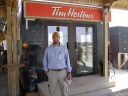 The Tim Hortons at Kandahar Air Base in southern Afghanistan.   This was not your grandfather's or your father's war.  May 2009