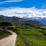 the road leaving wanaka for hast goes up through a beautiful mountain range