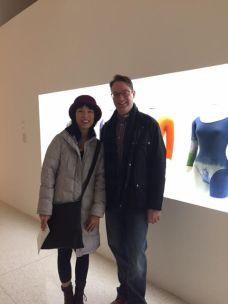 With Gloria Cheng at Walker Arts Merce Cunningham Exhibit