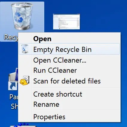 Do your part to help the environment (well, not really) by emptying the Recycle Bin.