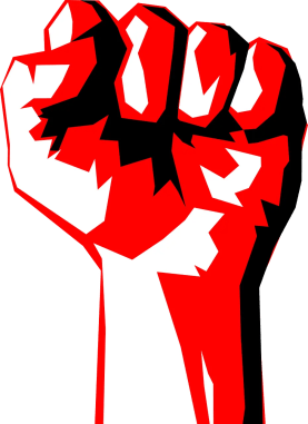 The red fist of socialism.
