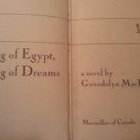 King of Egypt, King of Dreams by Gwendolyn MacEwen