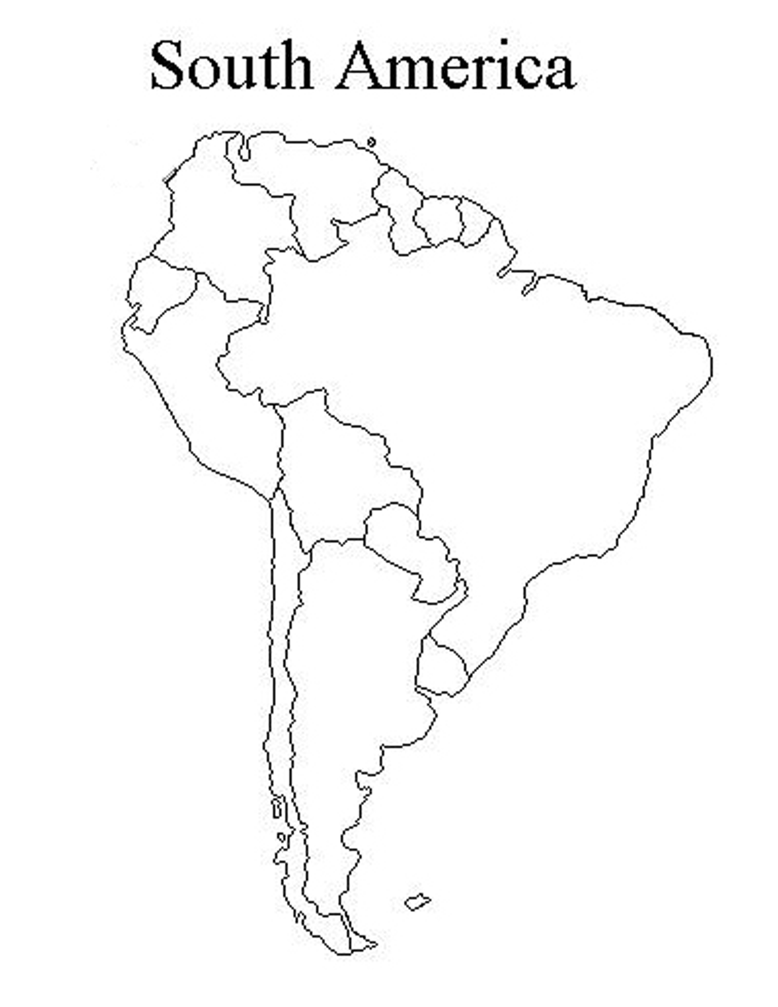 Blank South America Map Test Psdhook