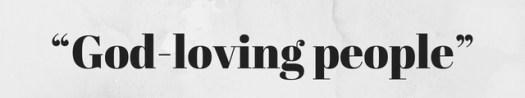 "Word Art over paper background: ""God-loving people"""