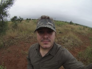Yes, of courses there was a bush selfie. If you can see me in all that camo, of course. PICTURE: Matthew Savides