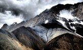Impressive glacier on Rong Dha pass at 5000m   Ladakh