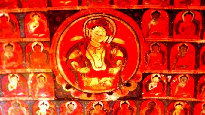 Effulgent Boddhisatva in a monastic cave outside of Amchi   Ladakh