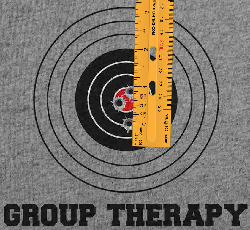 image regarding Printable 25 Yard Zero Target identify Absolutely free printable MOA/MIL ruler in just PDF layout. - Matthews