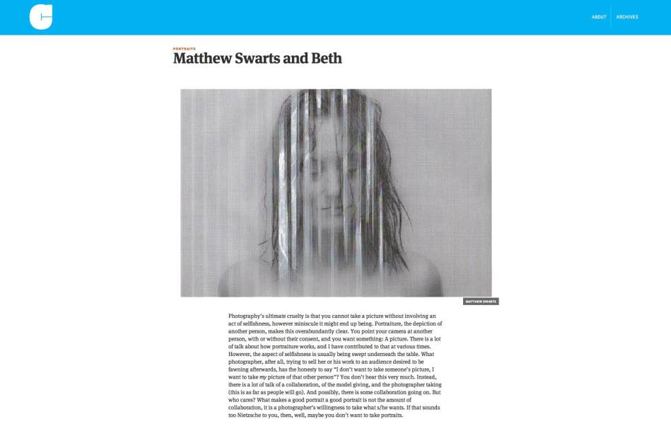 Matthew Swarts + Jörg Colberg + Conscientious Photography Magazine