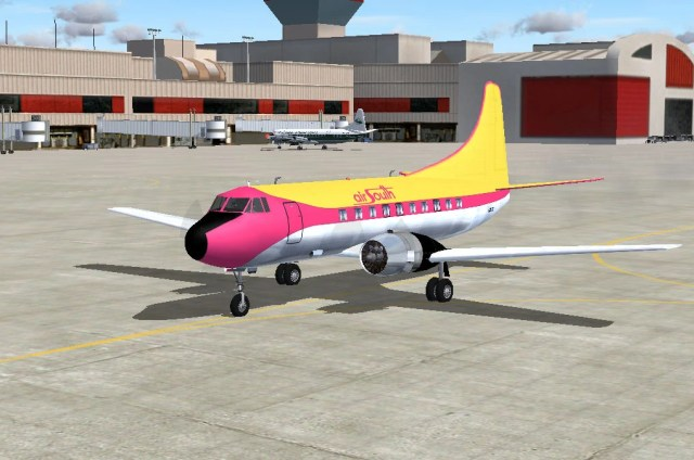 Martin N255S Shawnee Airlines leased by Air South Rendering