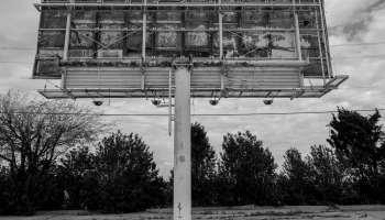 Urbex - Rusty Billboard in Dallas, Texas