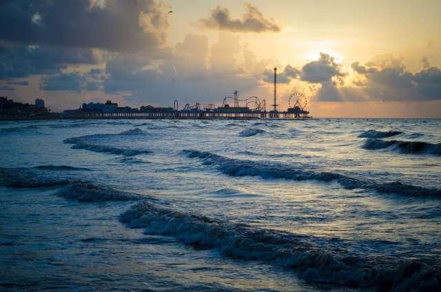 Pleasure pier during a sunrise