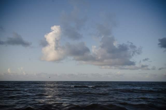 A seascape in Galveston
