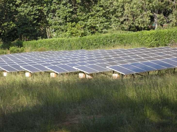 Solar power panels that power the Matrimandir
