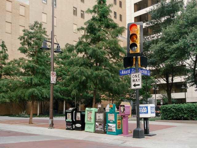 Newspaper vending machines