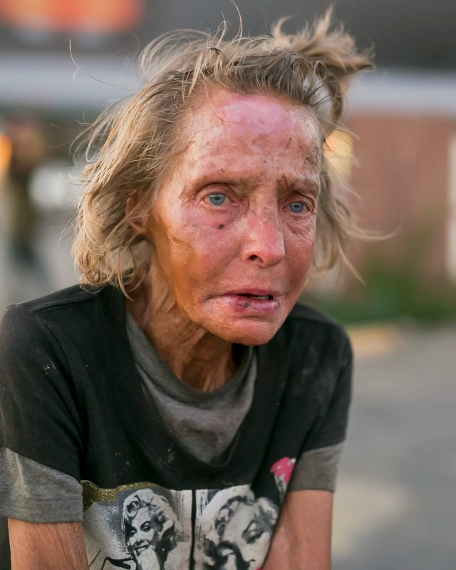 Diana - Portrait of a homeless woman in Dallas by Matthew T Rader
