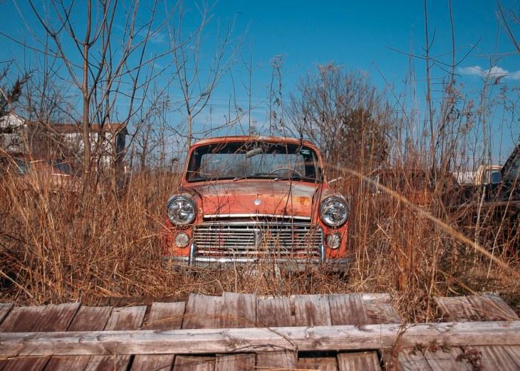 Abandoned 1963 Datsun 320 ute