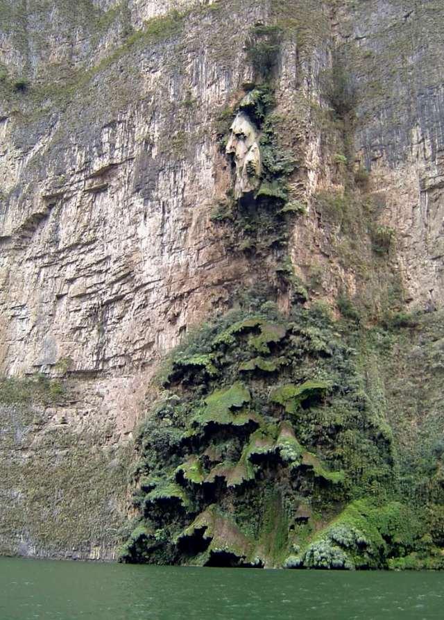 Christmas Tree Waterfall Sumidero Canyon Chiapas Mexico