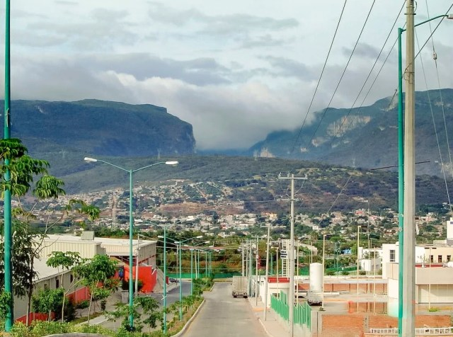 Sumidero Canyon rising above San Cristobal, Chiapas