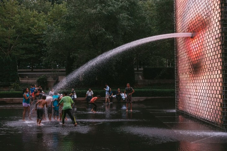 Crown Fountain by Jaume Plensa in the Millennium Park