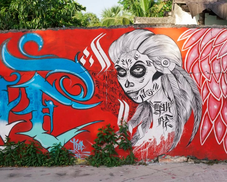 Graffiti in Cozumel, Mexico