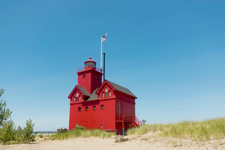 Holland Harbor Light aka Big Red at Holland Beach