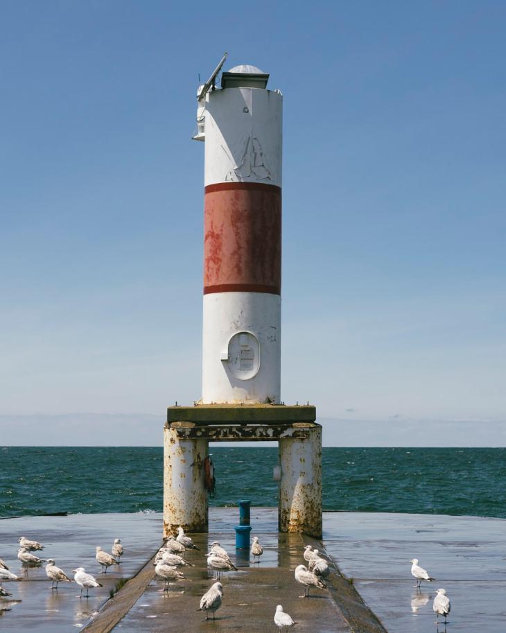 Holland Beach Pier Light