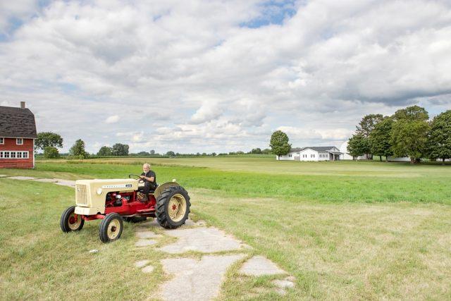 A farmer in rural Michigan